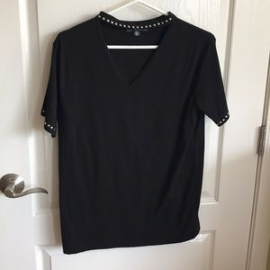 Choker Black with silver studs T Shirt